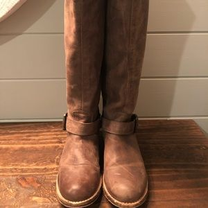 Steve Madden Lynxx Leather Riding Boots